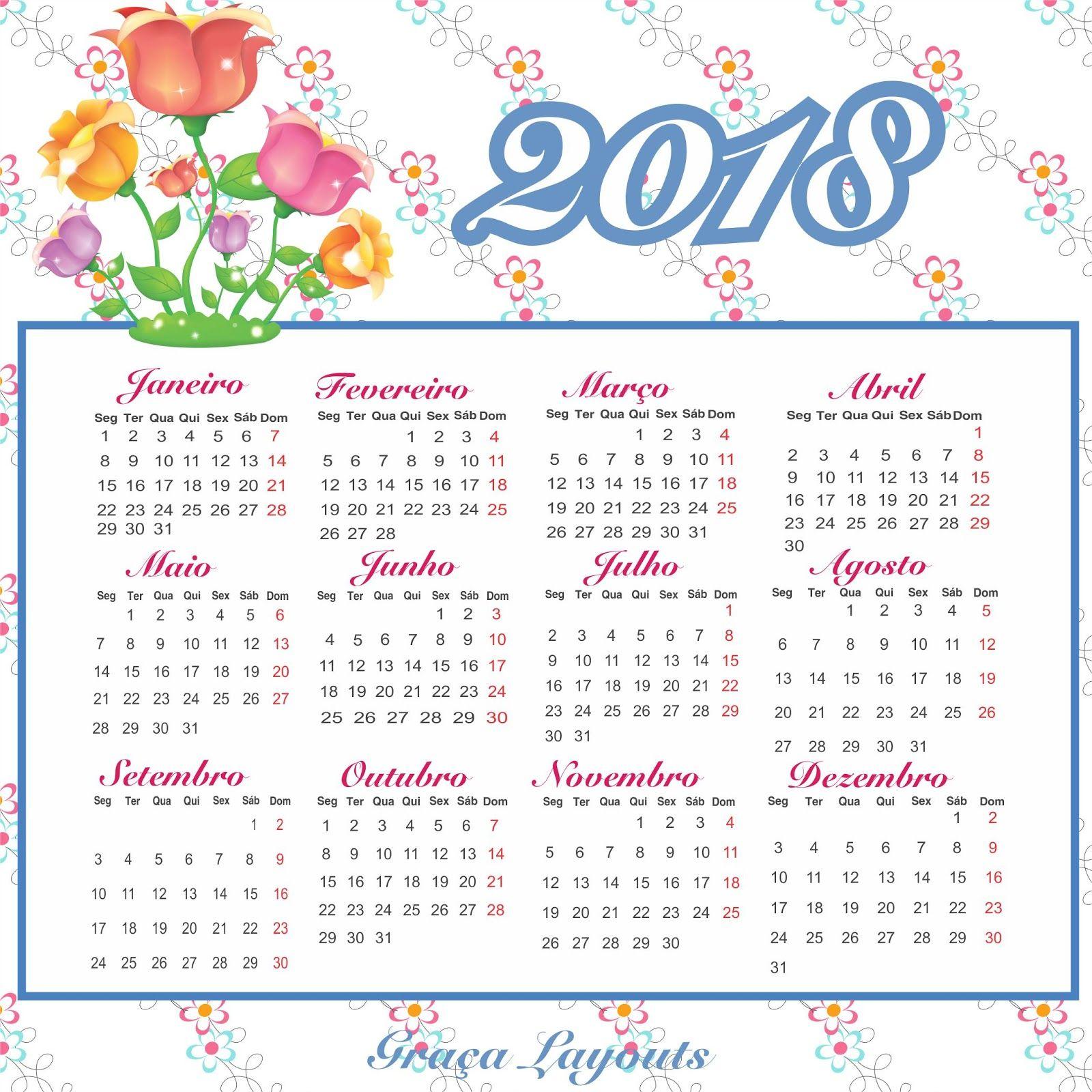Calendario 2018 Para Baixar Modelos De Calendario Planner Agendas