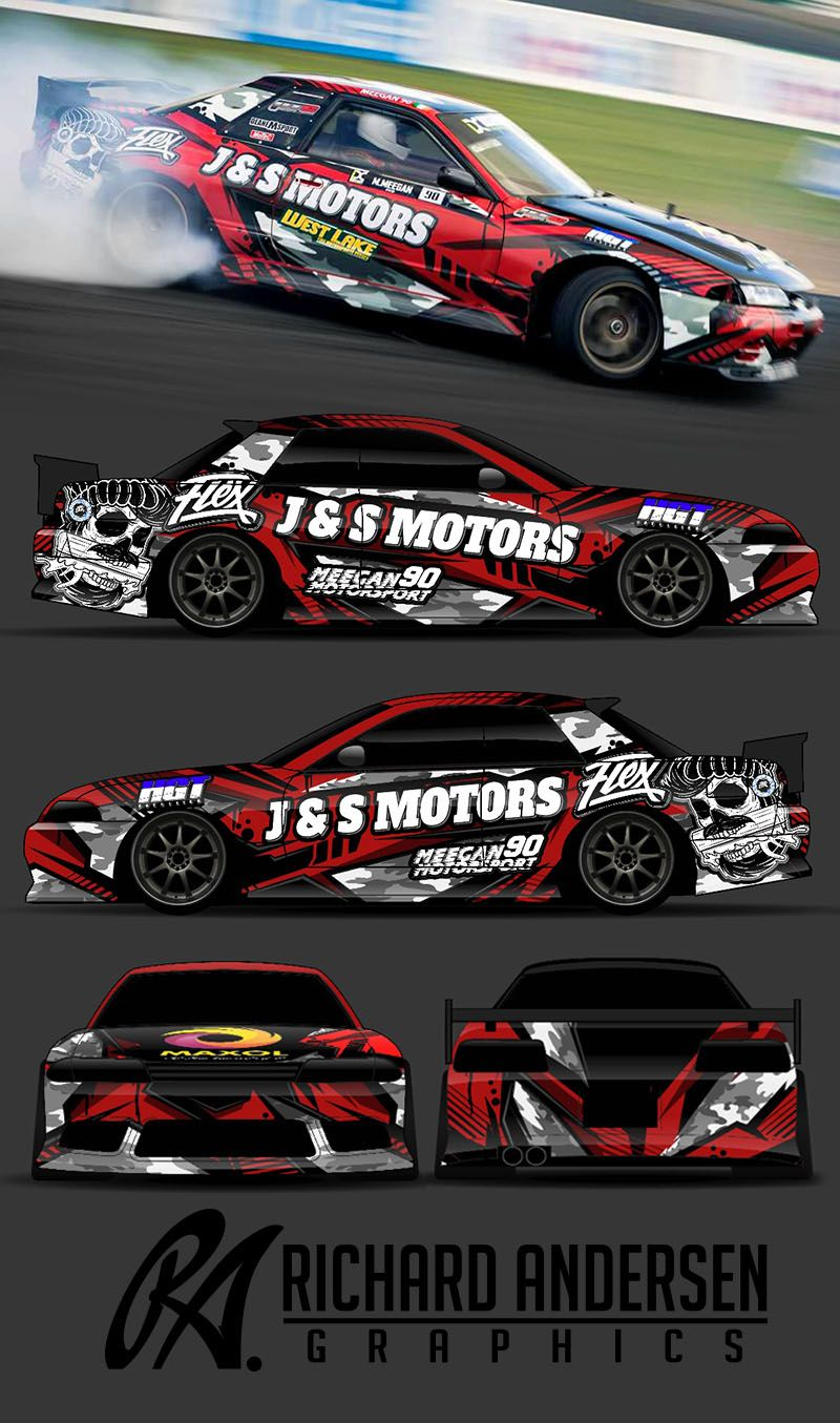 The Approved Branding In A Race Style Wrap Design For Subaru - Racing car decals design
