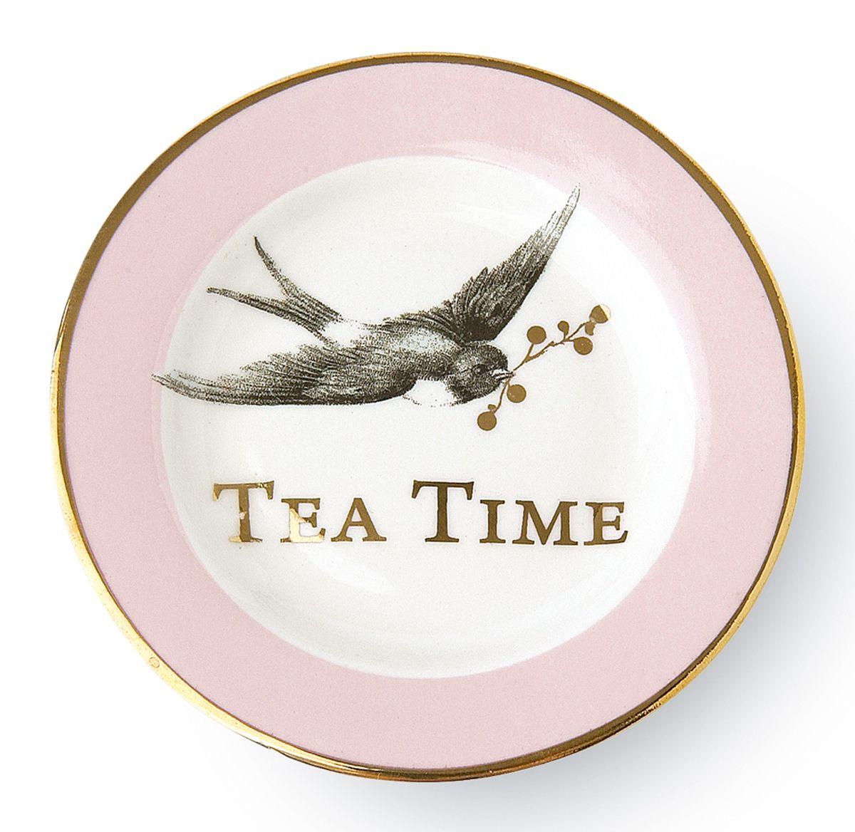"""Kleiner Zierteller """"Tea Time"""" von Miss Étoile #teatime #servieren #geschirr #tee"""