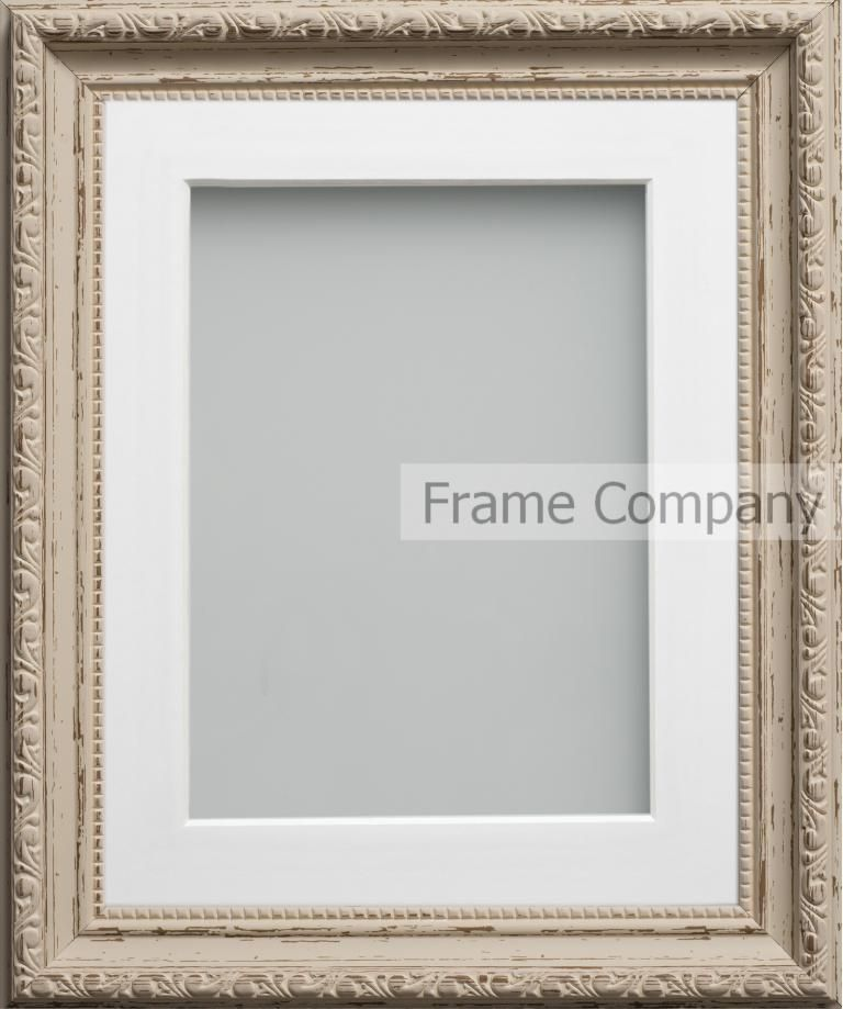 Vintage Cream A3 165x1175 Frame With White Mount Cut For Image