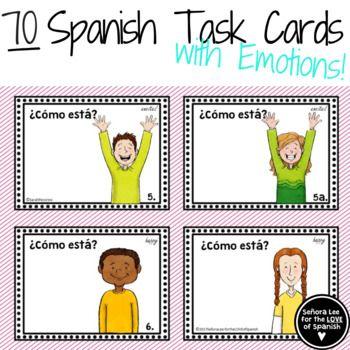 Spanish Emotions - Spanish Flashcards or Task Cards | TpT
