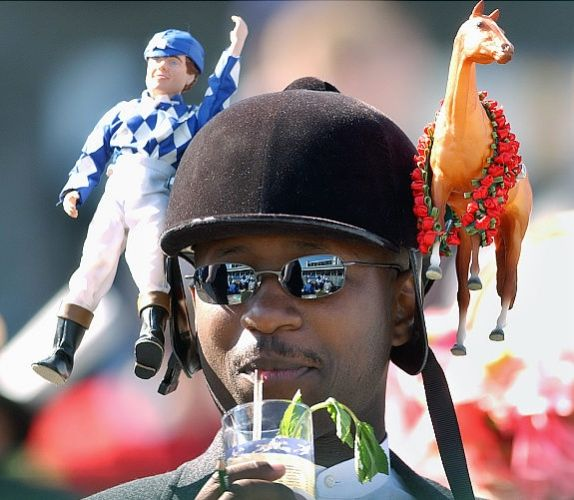A creative Men's hat for the Preakness! Make your hat for the