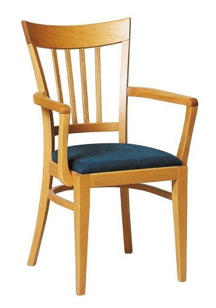 chaise bois avec accoudoir