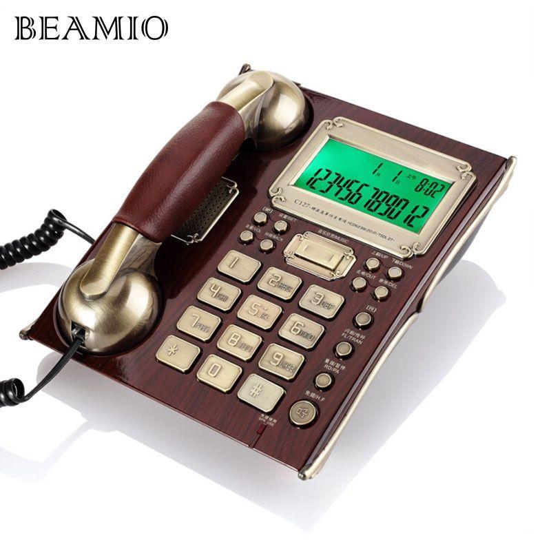 European Antique Vintage Call ID Handfree Fixed Telephone
