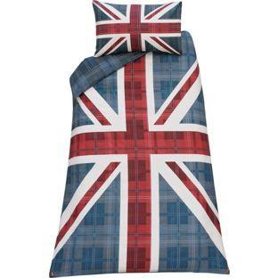 Check Union Jack Multicoloured Bedding Set Single At Argos Co Uk