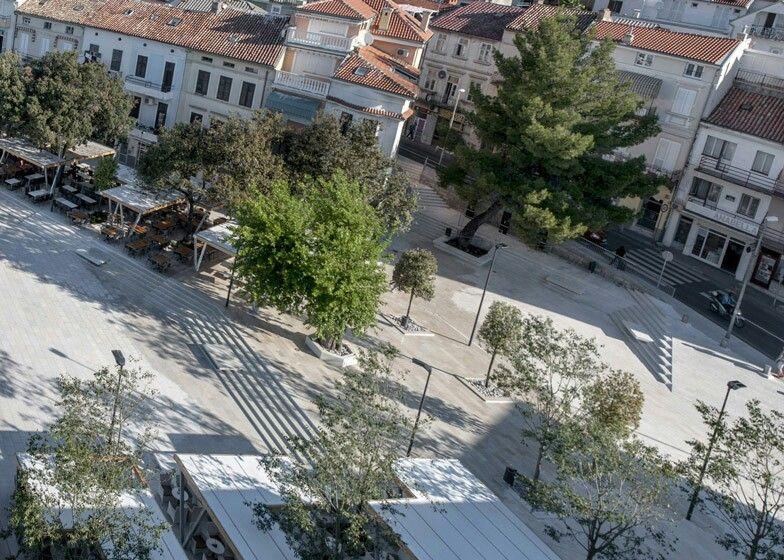 Trg Stjepana Radica Crikvenica Towns Square Croatia
