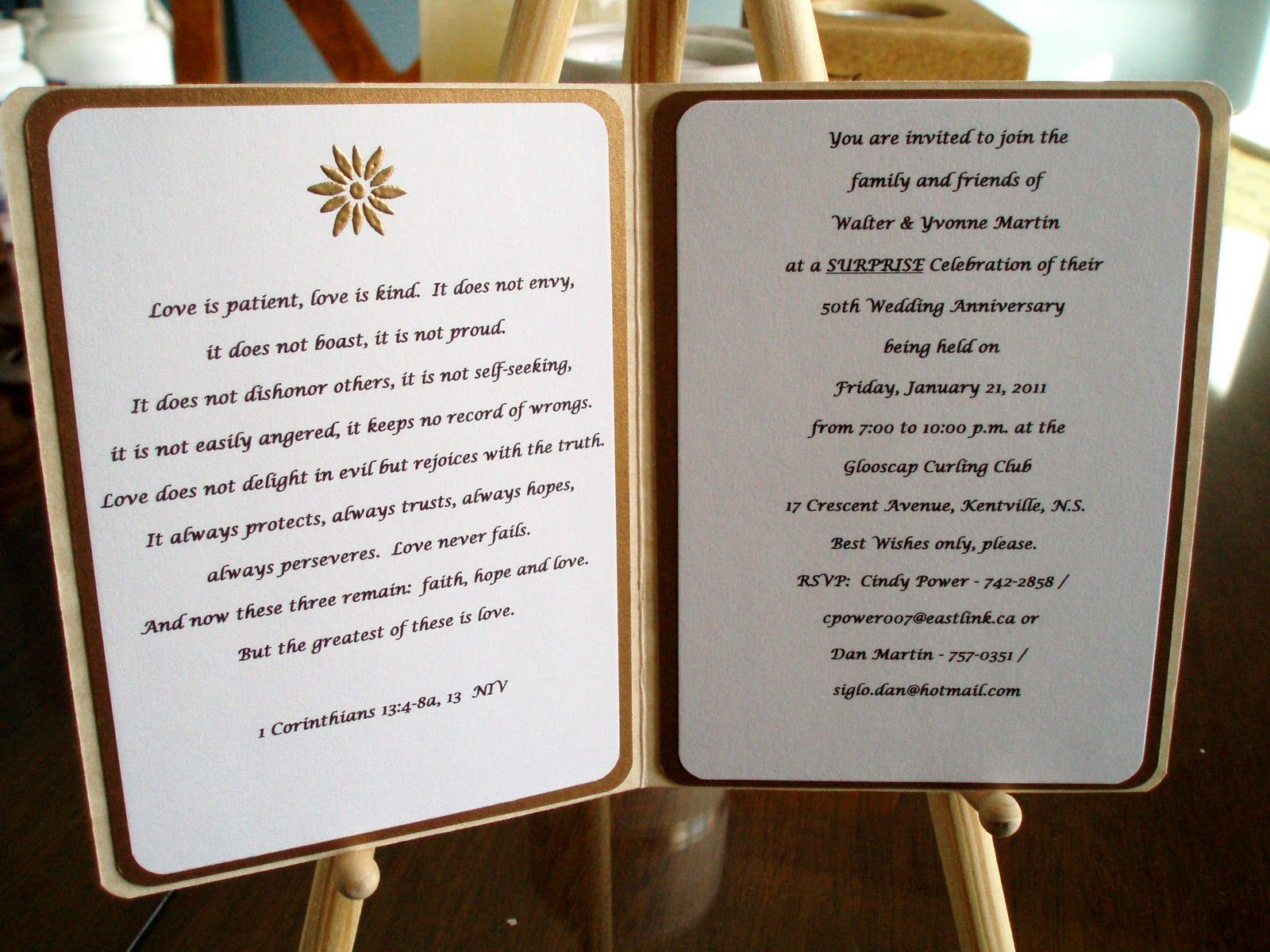 Wedding Anniversary Gift Parents: 50th Wedding Anniversary Centerpieces