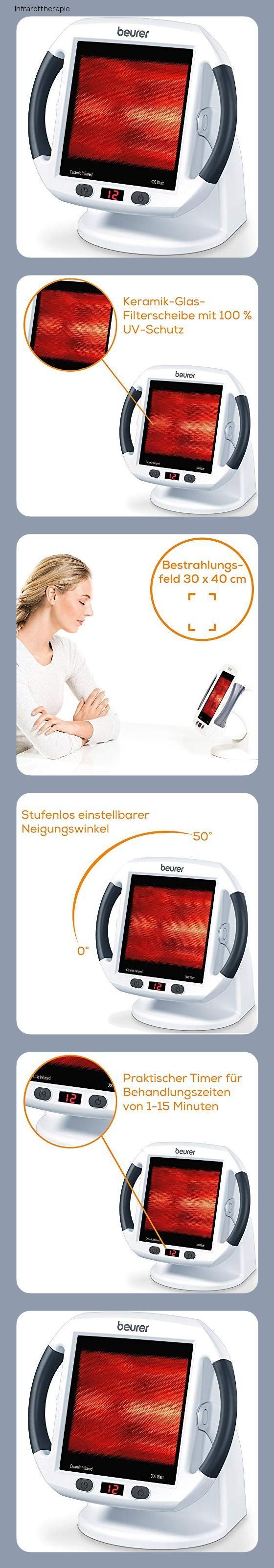 Beurer Il 50 Infrarot Warmestrahler Medizinprodukt Zur Behandlung Von Erkaltungen Und Muskelverspannungen Infrarotlampe Mit 300 Watt L In 2020 Strahler Warme Produkt