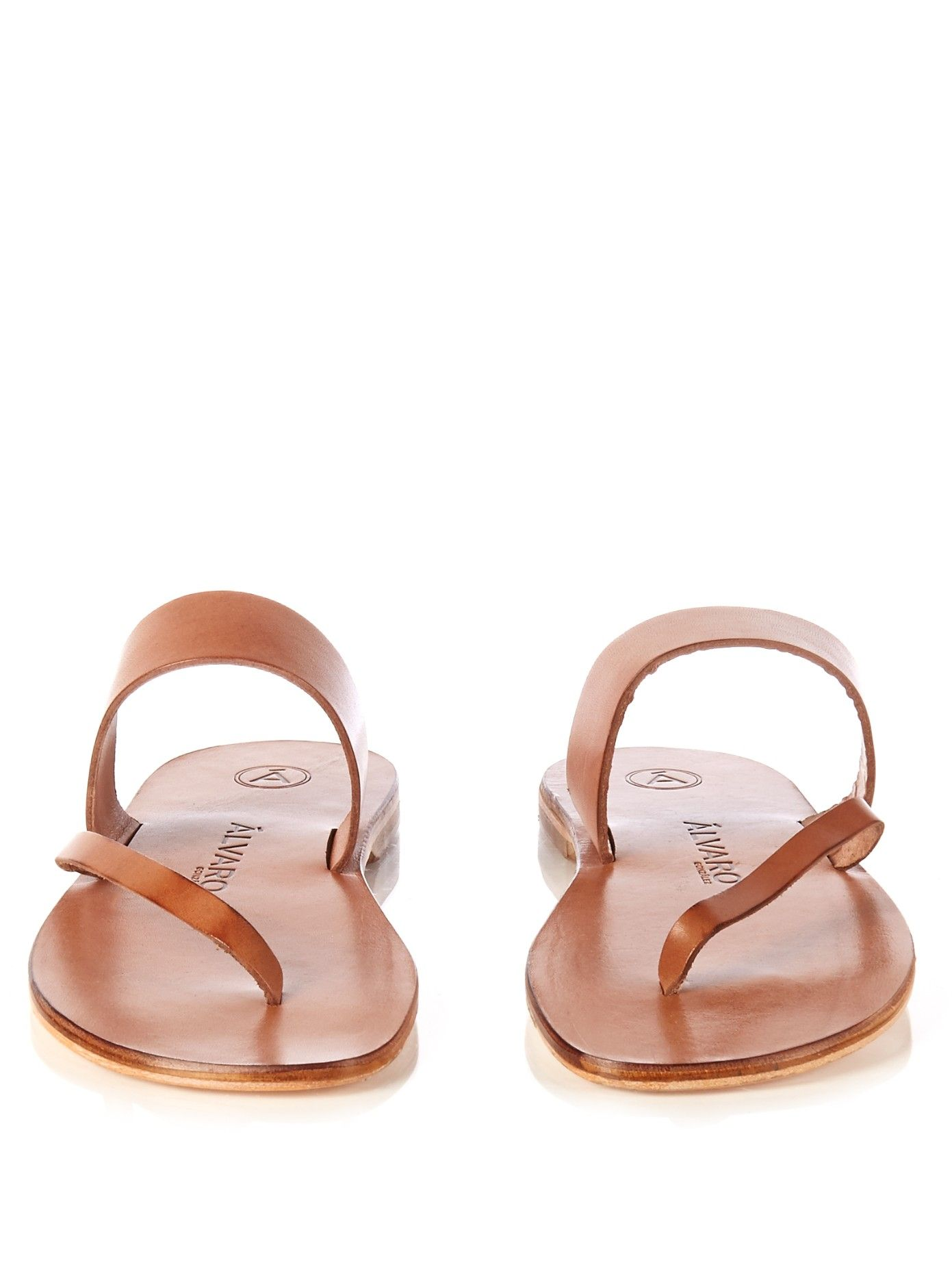 Men s leather thong sandal