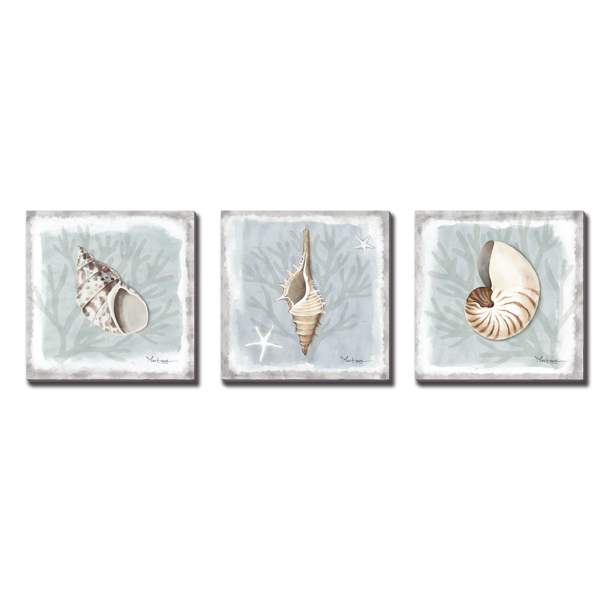 shell wall art for bathroom