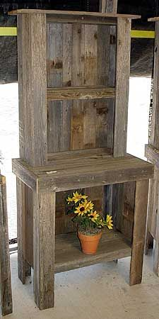 small hutch barn wood projects wood table diy on fantastic repurposed furniture projects ideas in time for father s day id=80685