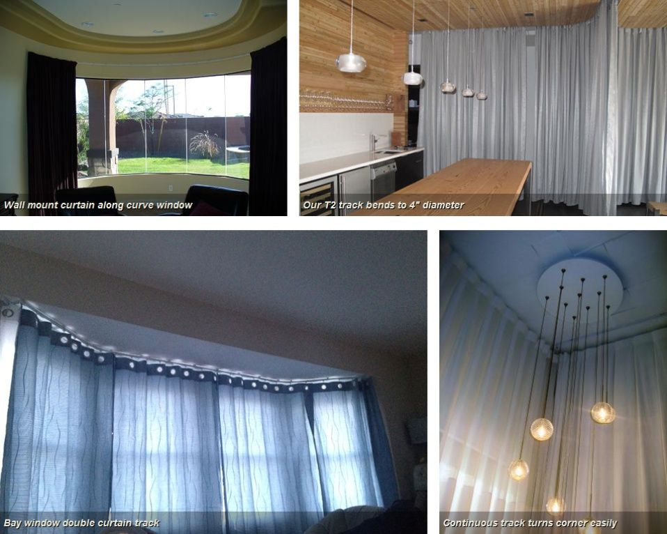 Flexible Curtain Tracks Living Room Remodel Curtains Flexible
