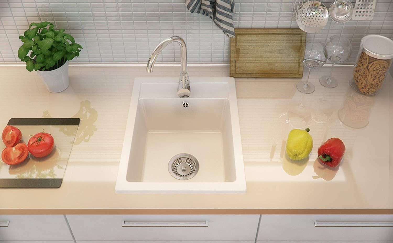 Granitspule Weiss 1 Becken Siphon Spulbecken Kuchenspule Schrankbreite Ab 40 Cm Amazon De Baumarkt Kuchenspule Unterschrank Siphon