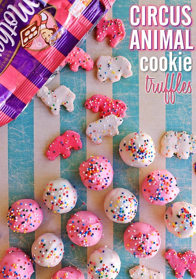 Circus Animal Cookie Truffles Recipe Truffles, Circus