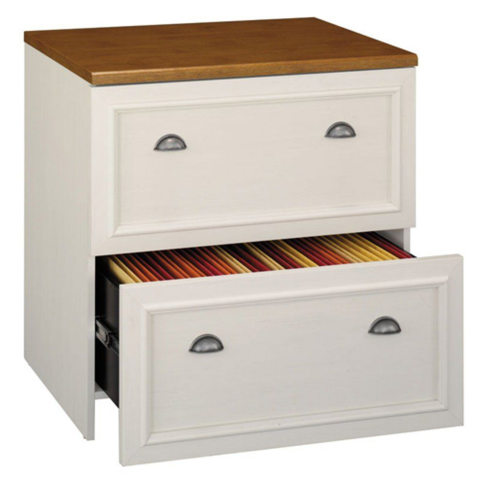 Bush Furniture Fairview Lateral File Cabinet Antique White With Images Filing Cabinet Office Furniture File Cabinets Lateral File Cabinet