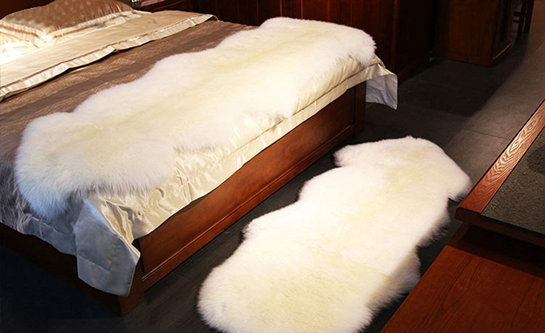 Genuine Australian Sheepskin 2 Pelts Handmade Premium Rugs 3 Colors Shaggy Sheepskin Fur 80x210 Cm 2 6x6 8 Ft Floor Decor Natural Leather Floor Decor Nature Decor Pelt