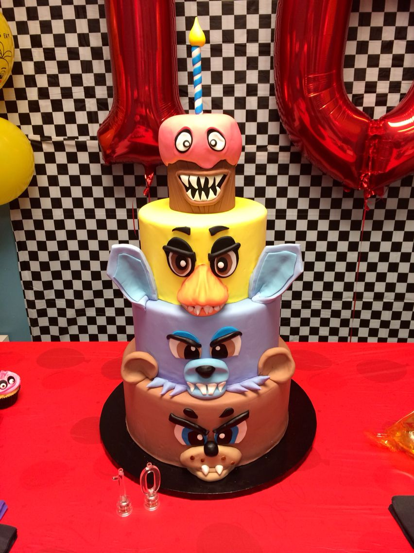 Five Nights At Freddy S Fnaf Birthday Cake Puchuchi 10th