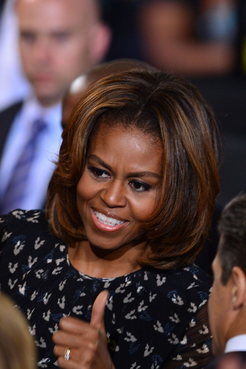 michelle obama changed up her hair again and we approve