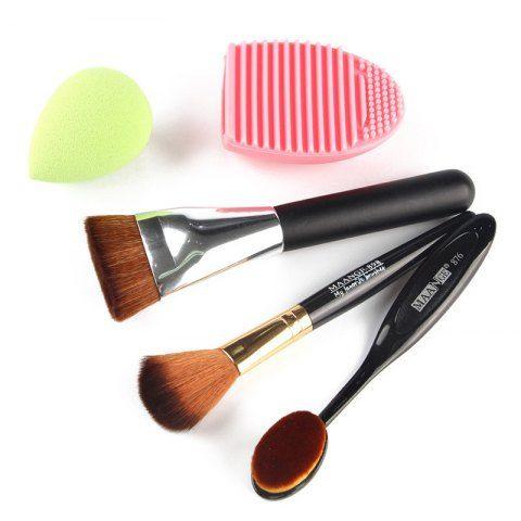 stylish 5 pcs/set blush brush  foundation brush  flat