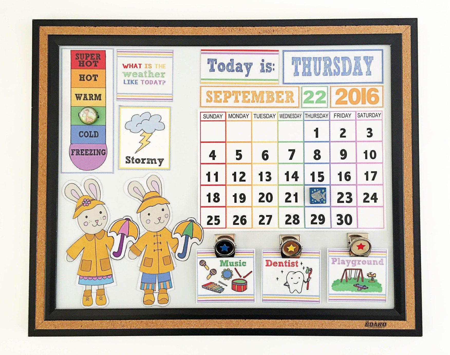 DIY Children s Calendar with Free Printables