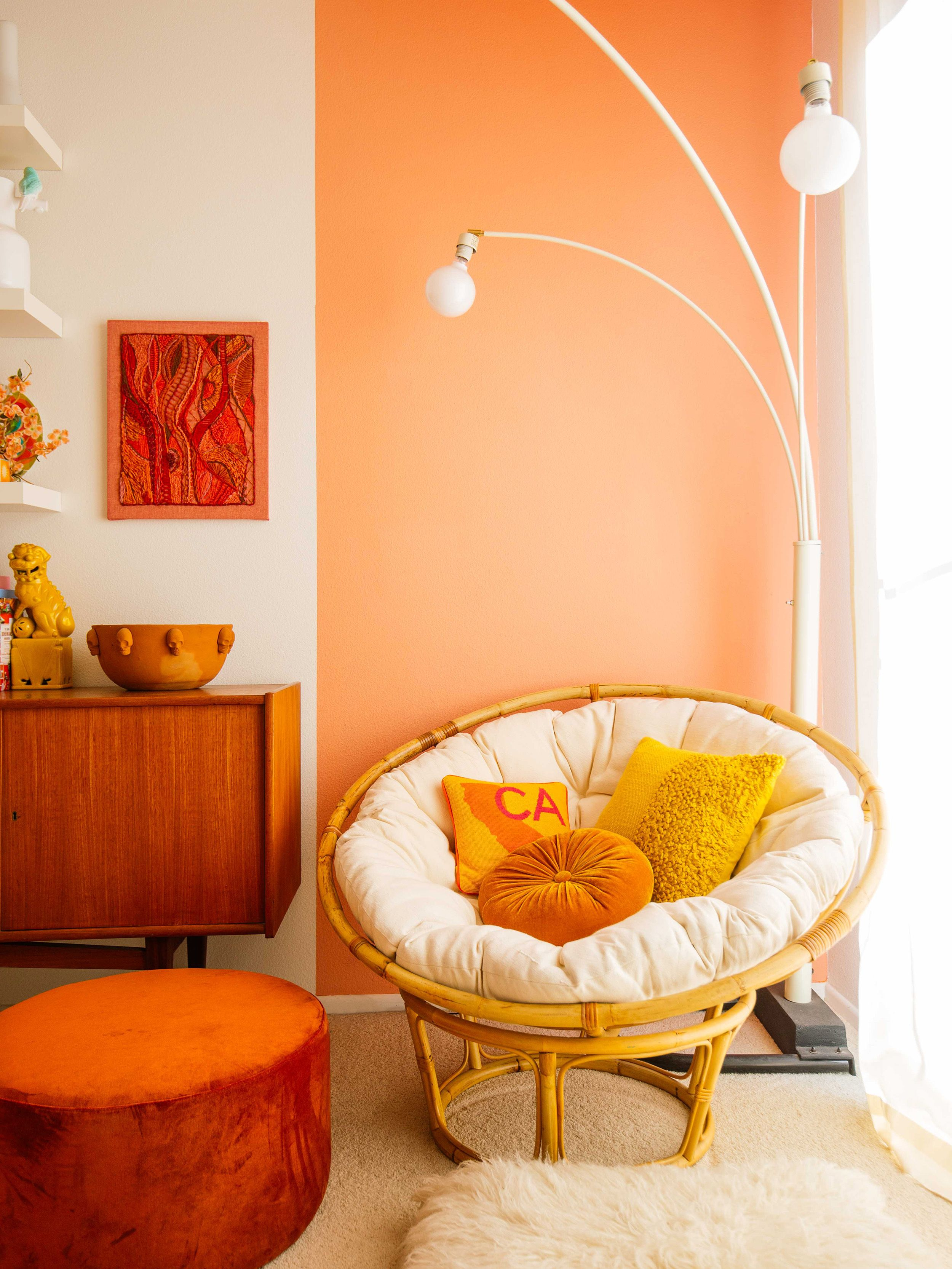 Happy Mundane Home Tour Old Brand New Paint Colors For Living Room Peach Living Rooms Living Room Paint