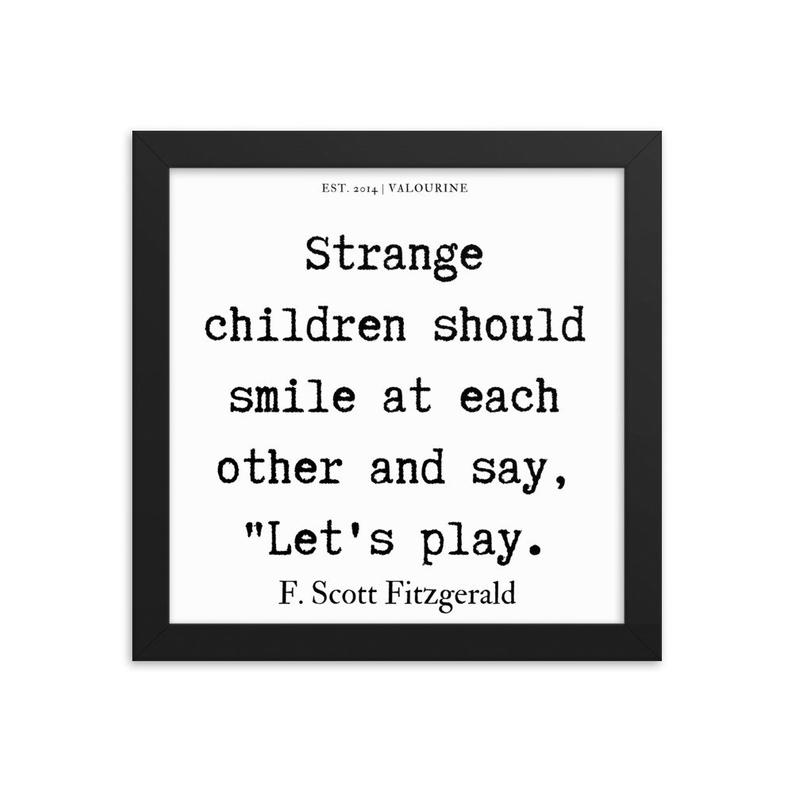 64  | Framed poster   | F.Scott Fitzgerald Quote | 191212 #philosophicalquotes