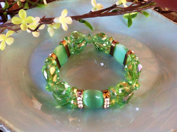 Vintage bracelet crystal jewelry vintage by DakotaDesignsbyVicki