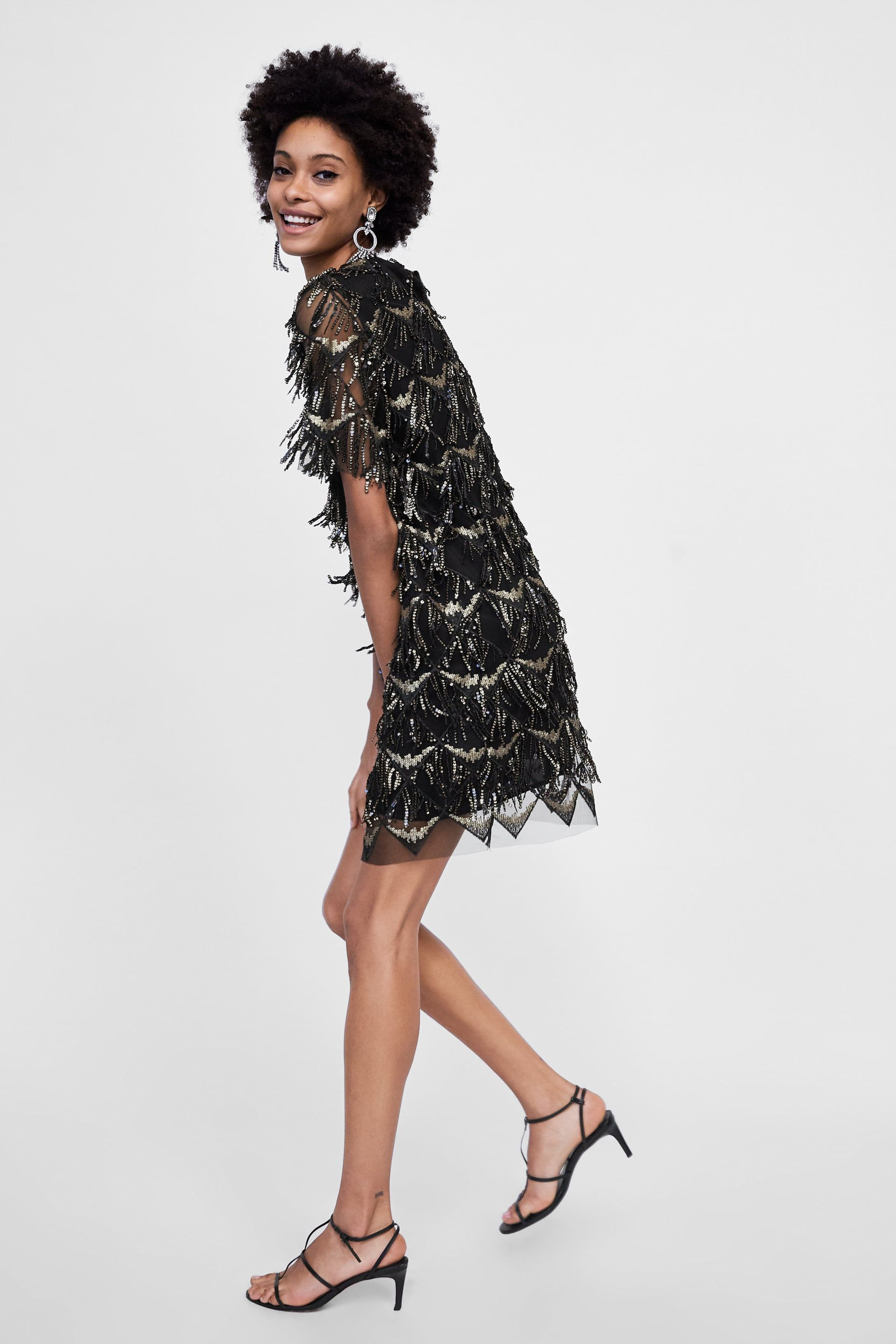 f9465a337da Image 3 of FRINGED SEQUIN DRESS from Zara