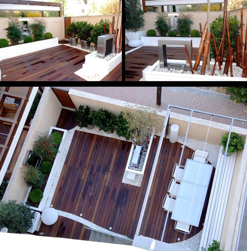 Casla ha conseguido crear un espacio exterior funcional de for Paisajismo de terrazas