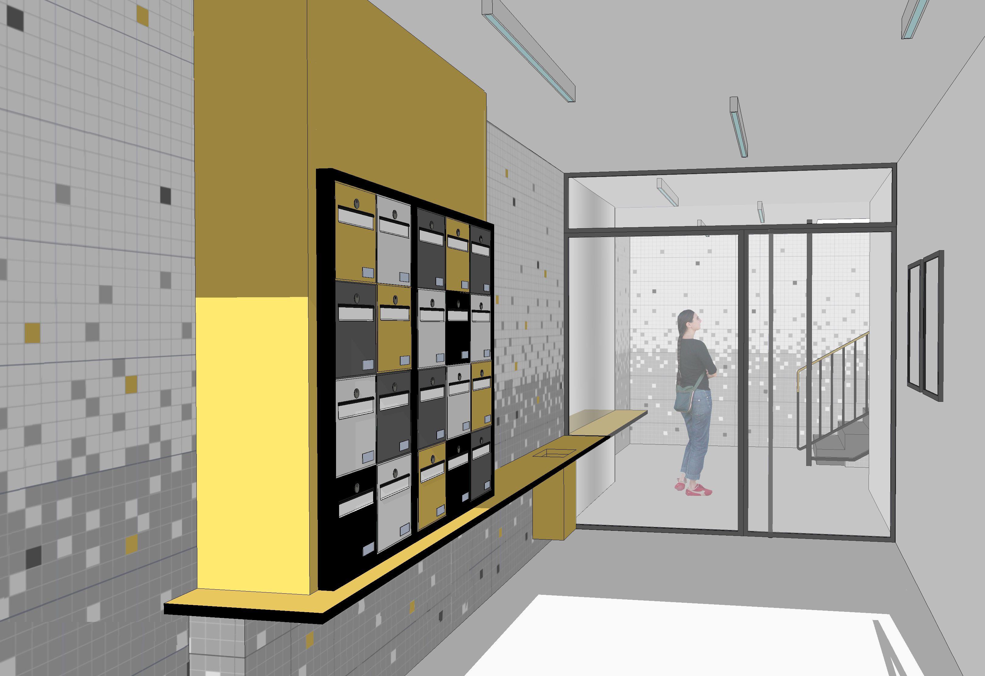 r sultat de recherche d 39 images pour hall immeuble couloir hall partie commune pinterest. Black Bedroom Furniture Sets. Home Design Ideas