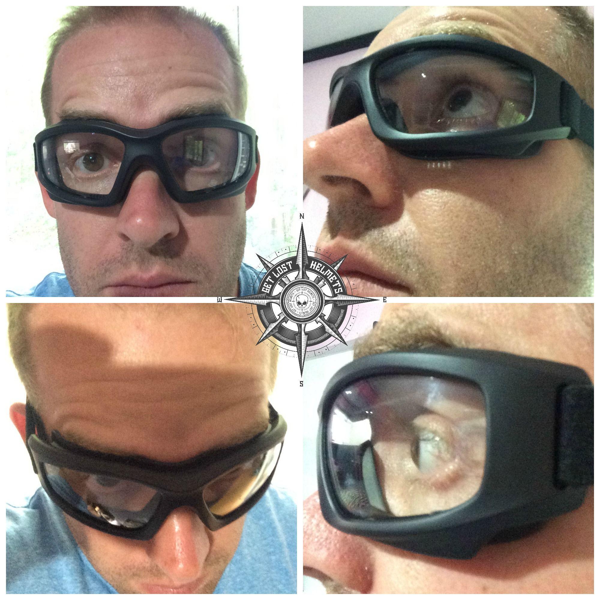 Touring Goggles suit Bobber Scrambler Clear lens Cafe Racer
