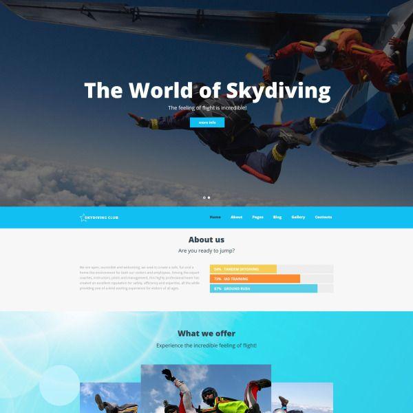 Skydiving Club - Extreme Sports & Skydiving Club Joomla ...
