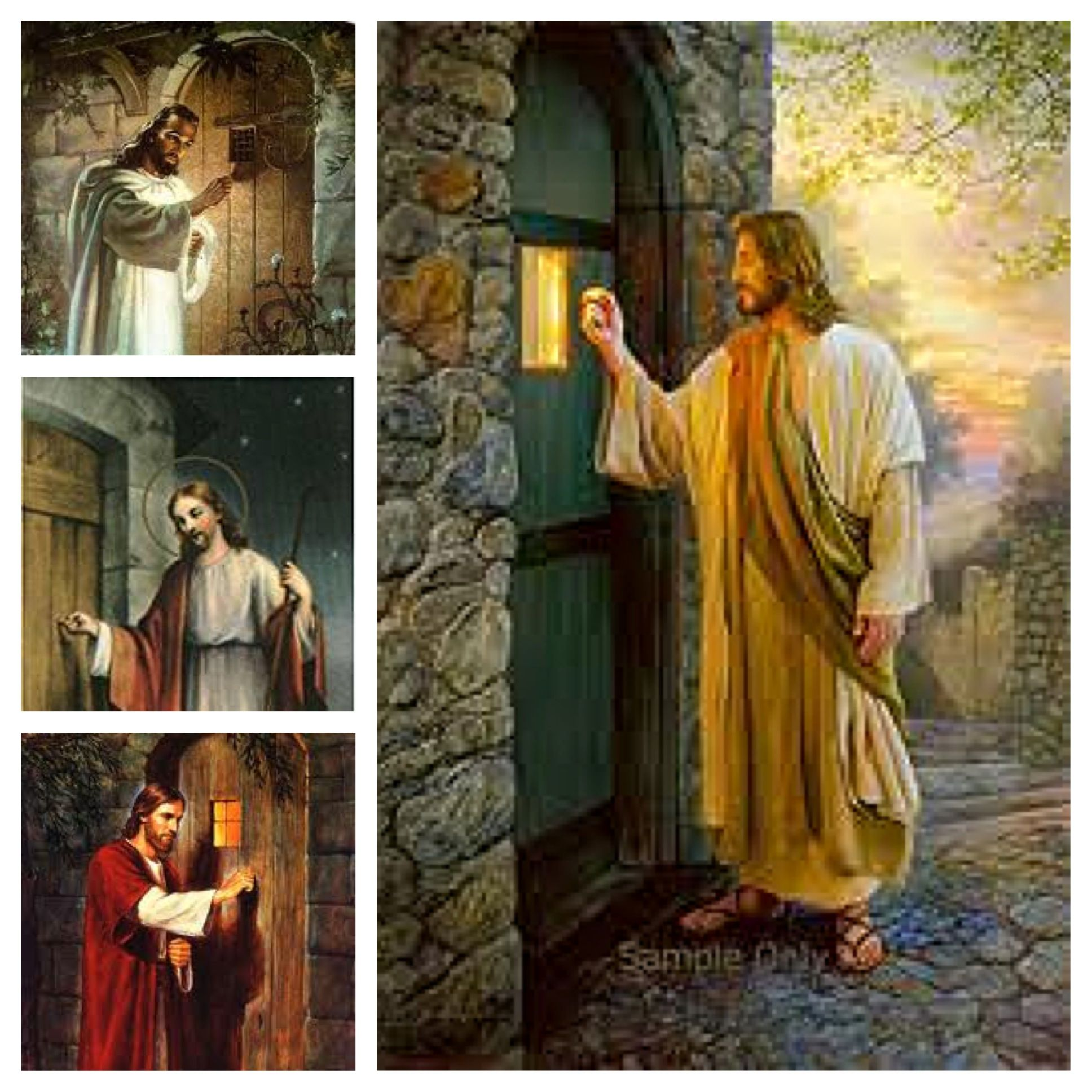 Ever notice how most paintings of Jesus knocking on a door feature doors without handles on & Ever notice how most paintings of Jesus knocking on a door feature ... pezcame.com
