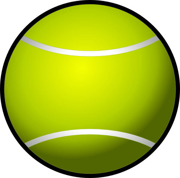 Vector Clip Art Online Royalty Free Public Domain Tennis Ball Tennis Ball
