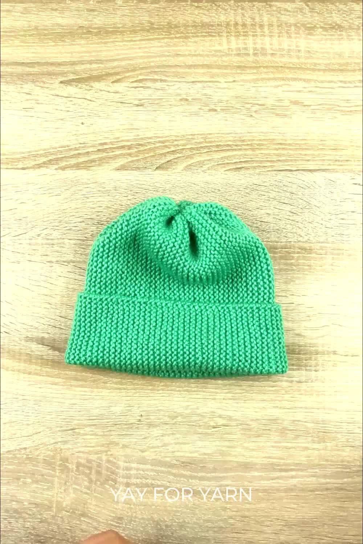 Photo of Hvordan lage den enkleste strikkede hatten noensinne! (Den er laget av et rektangel!)
