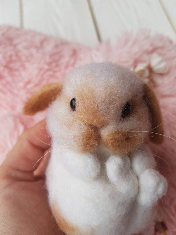 Needle felted bunny toy, felted bunny toy, cute rabbit toy, bunny miniature toy, easter bunny toy, W #needlefeltedbunny