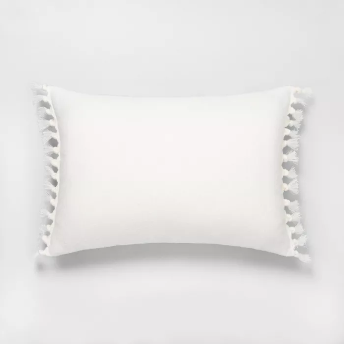 Knotted Fringe Throw Pillow Hearth Hand With Magnolia Target Hearth Hand With Magnolia Throw Pillows Pretty Throw Pillows