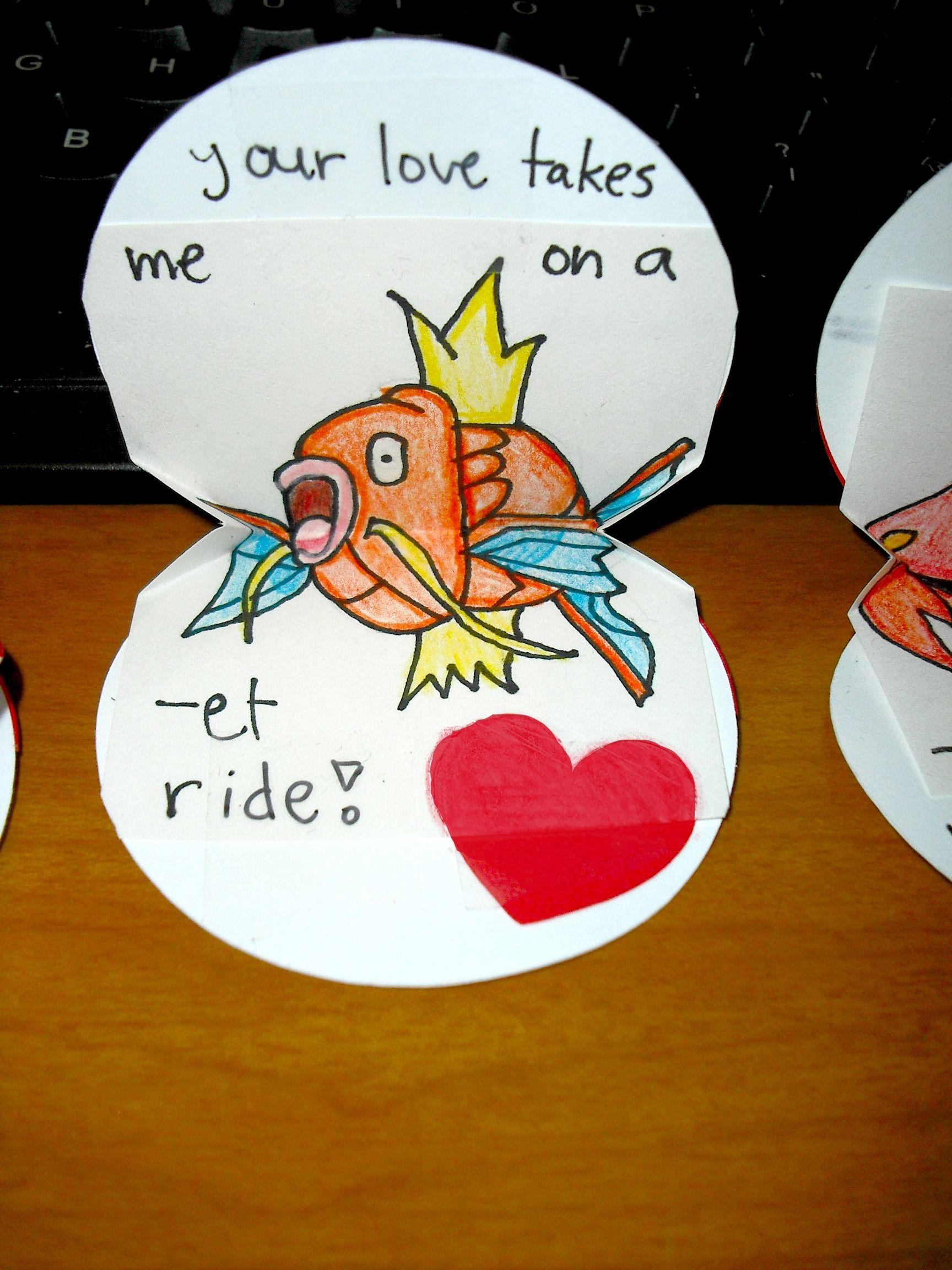 Magikarp pokemon valentine hahaha!