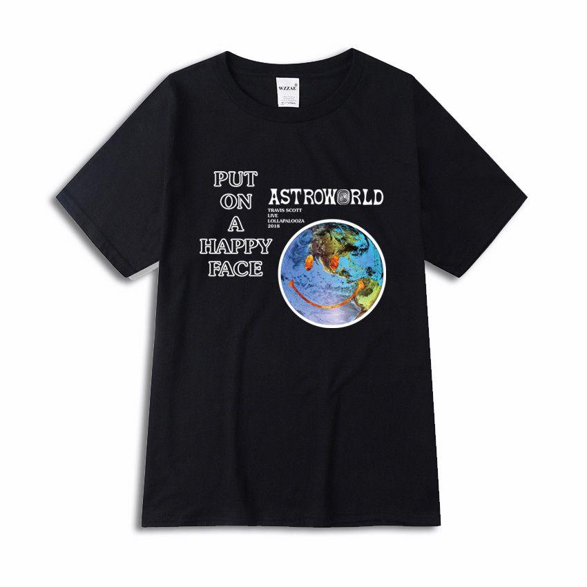 Buy Lollapalooza Happy Face Shirt Astroworld Merch Hoodies Men Printed Hoodie Men Mens Sweatshirts