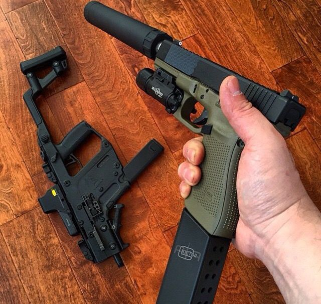 Kriss Vector and Glock 21 | Weapons Lover | Weapons | Pinterest ...