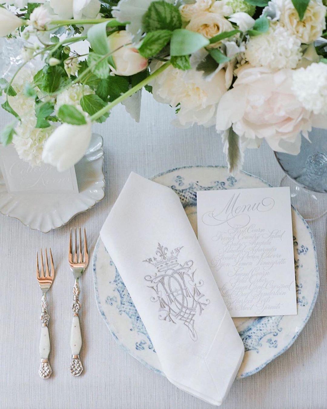 Monogrammed Linens Floral Linen Napkins Monogrammed Floral  Linen Napkins Monogrammed Table Linens