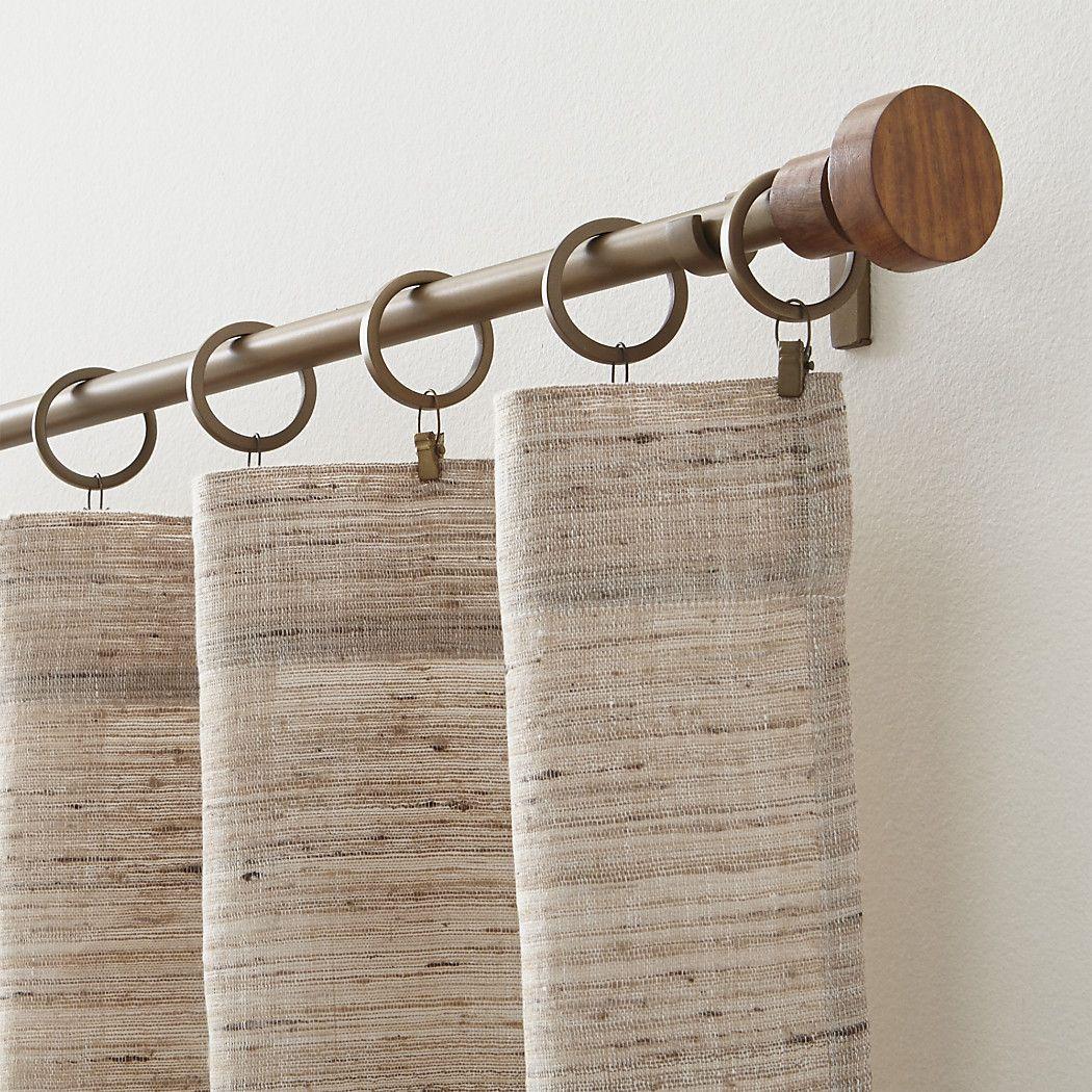 Shop Copenhagen Brass With Wood Finials Curtain Hardware Made