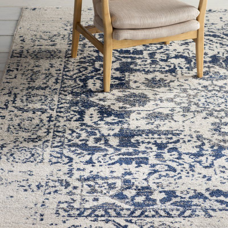 Katie Cream Navy Indoor Area Rug Reviews Joss Main In 2020 Area Rugs Rugs In Living Room Navy Area Rug
