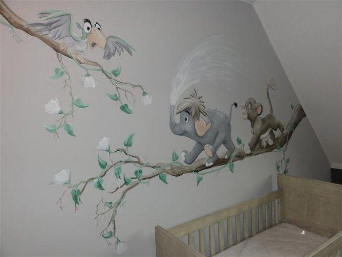 Babykamer blauw muurschildering google zoeken babykamer pinterest babies walls and room - Kleur voor baby boy kamer ...
