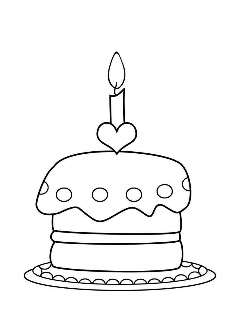 Kostenlose Geburtstagstorten Bilder zum Ausmalen #kerze #