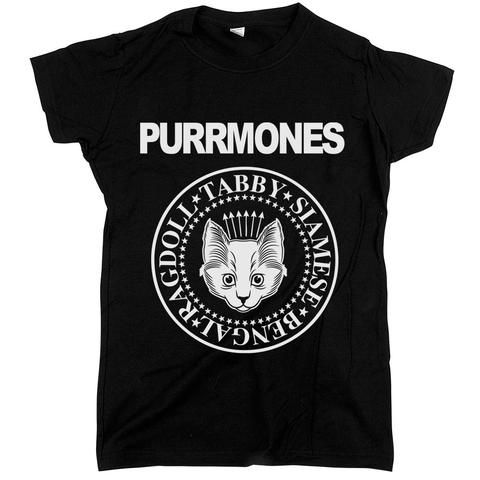 Purrmones Womens JR Slim Fit Tee Black