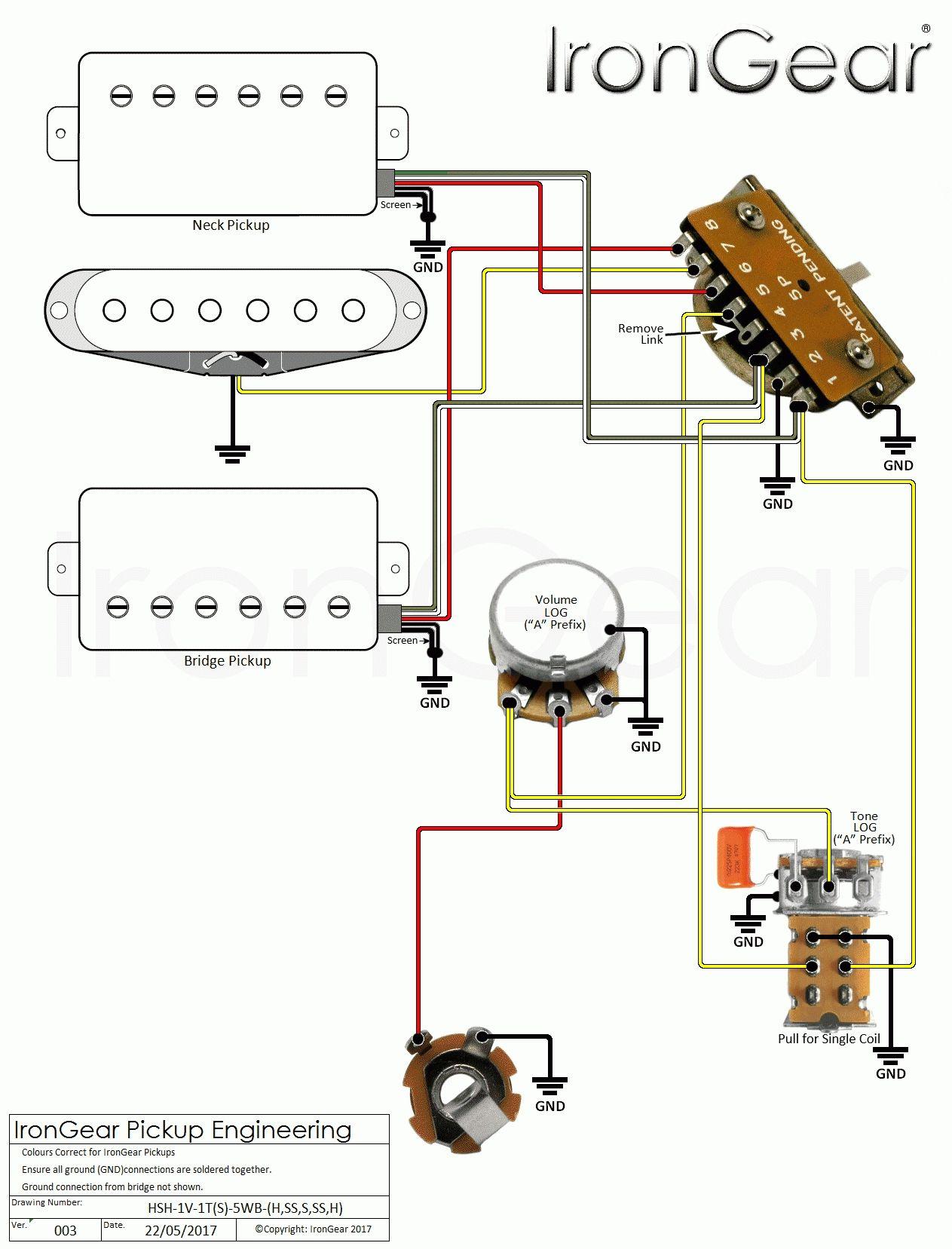 Irongear Pickups Wiring Pertaining To Guitar Wiring Diagram 2 Humbucker 1 Volume 1 Tone