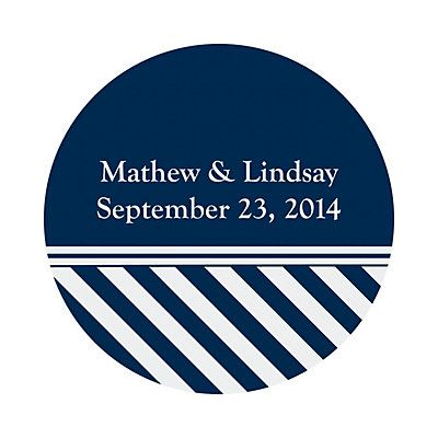 Personalized Nautical Wedding Favor Stickers - Oriental Trading