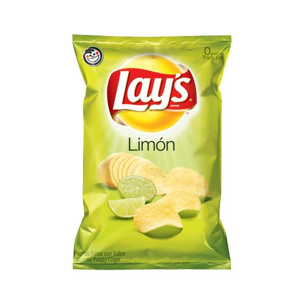 LAY'S® Limon Tangy Lime Flavored Potato Chips ❤ liked on Polyvore featuring food