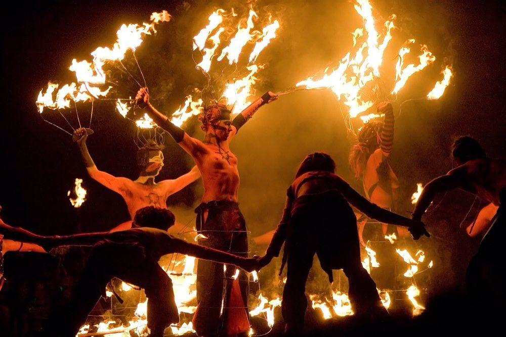 Beltane (Irish meaning 'Bright Fire') celebrations in